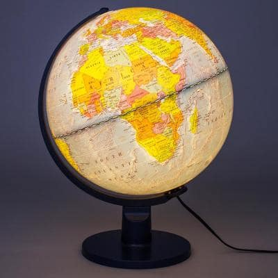 Scout II Illuminated 12 in. Desktop Globe