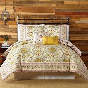 Joanne 5-Piece Red King Comforter Set