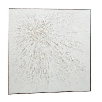 White Contemporary Canvas Wall Art