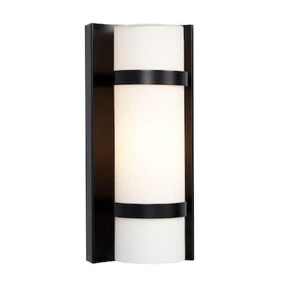 Negron 1-Light Black Incandescent Sconce