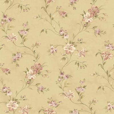Lorraine Lily Gold Floral Gold Wallpaper Sample