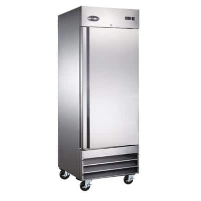 29 in. W 23 cu. ft. Commercial One Door Reach-In Refrigerator in Stainless Steel