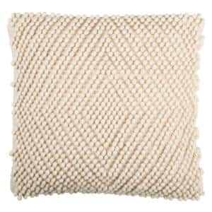 Diamond Natural Solid Down Alternative 20 in. x 20 in. Throw Pillow
