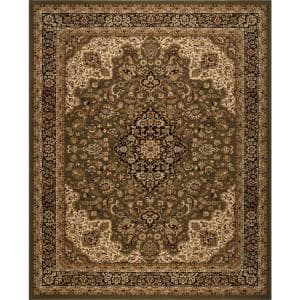 Home Decorators Collection Silk Road Green 5 Ft X 8 Ft Medallion Area Rug 30955 The Home Depot