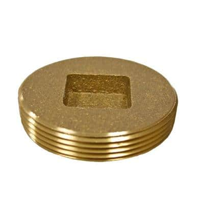 2 in. Countersunk Southern Code Brass Cleanout Plug 2-3/8 in. O.D. for DWV