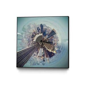 30 in. x 30 in. ''City Center I'' by Jean-Franois Dupuis Framed Wall Art
