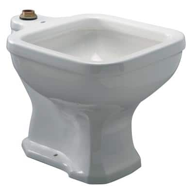 20.5 in. x 27 in. Vitreous China Single Hole Service Sink in White