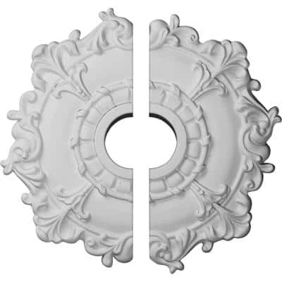 18 in. x 3-1/2 in. x 1-1/2 in. Riley Urethane Ceiling Medallion, 2-Piece (Fits Canopies up to 4-5/8 in.)