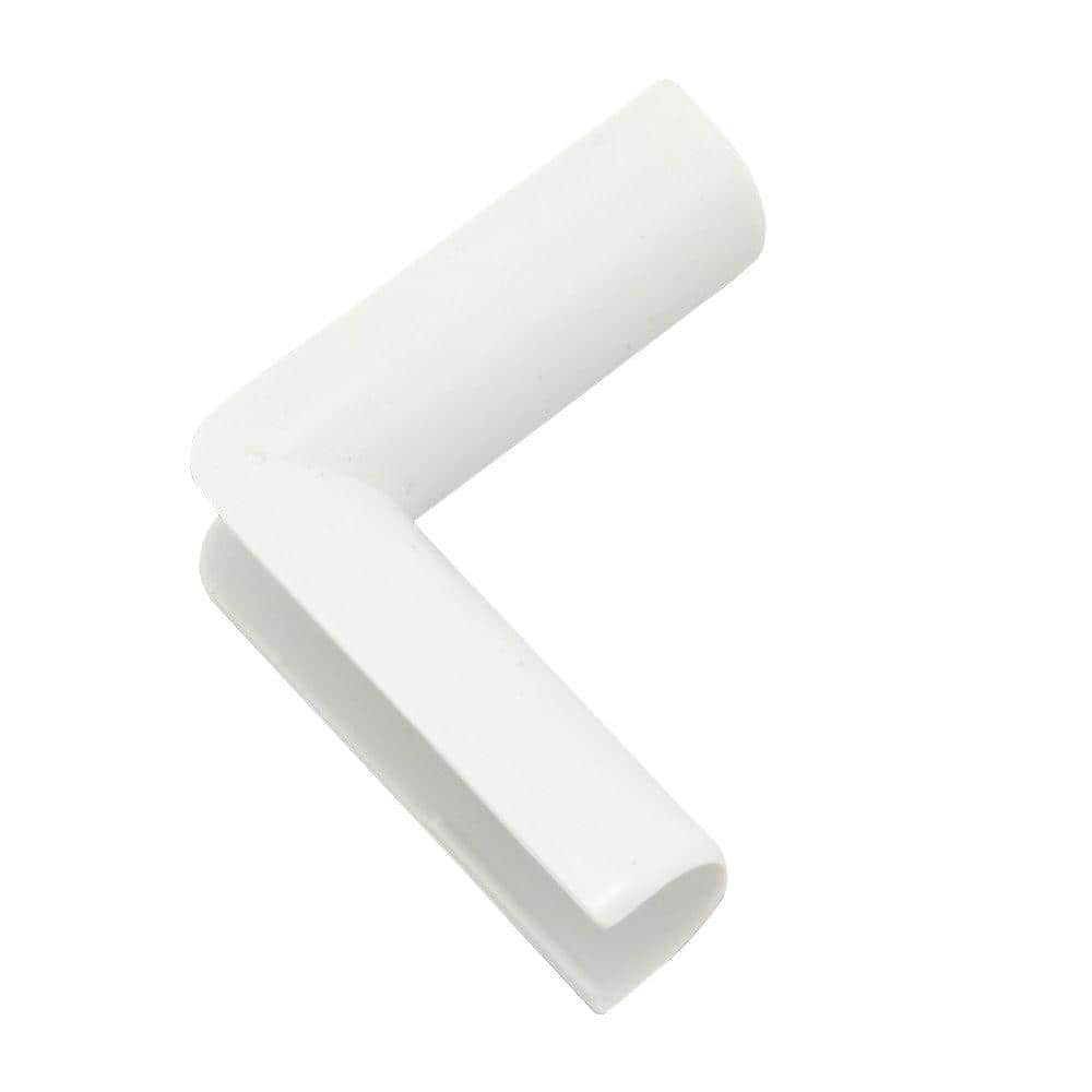 Legrand Wiremold Cordmate Cord Cover Inside Elbow White C17 The Home Depot