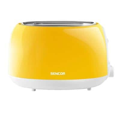 2-Slice Solid Yellow Long Slot Toaster