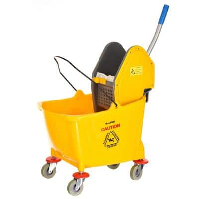 36 Qt. Mop Bucket with Down Press Wringer in Yellow
