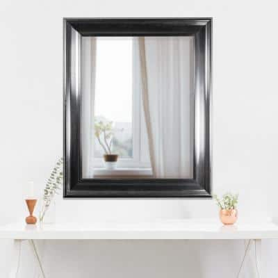 Medium Rectangle Black Modern Mirror (34.75 in. H x 28.75 in. W)