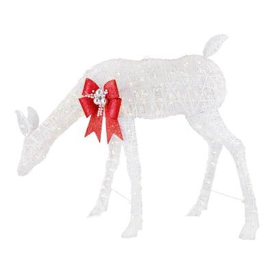 54.7 in. LED White Doe Outdoor Christmas Decor