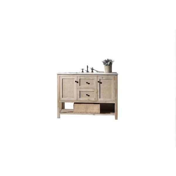 48 In White Wash Vanity Marble, 48 White Washed Bathroom Vanity