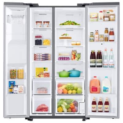 21.5 cu. ft. Family Hub Side by Side Smart Refrigerator in Fingerprint Resistant Stainless Steel, Counter Depth
