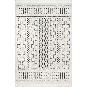Sophie Modern Moroccan Shag Off-White 7 ft. x 9 ft. Area Rug