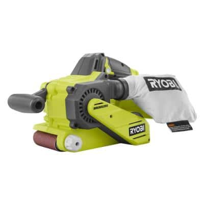 18-Volt ONE+ Cordless Brushless 3 in. x 18 in. Belt Sander (Tool Only) with Dust Bag and 80-Grit Sanding Belt