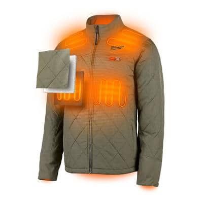 Men's M12 12-Volt Lithium-Ion Cordless AXIS Heated Quilted Jacket Kit with (1) 2.0Ah Battery and Charger