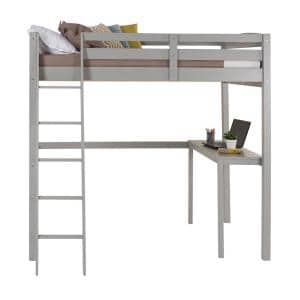 Tribeca Grey Full Size High Loft Bed with Desk