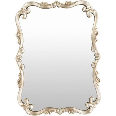 Medium Rectangle Champagne Classic Mirror (30.5 in. H x 40.5 in. W)