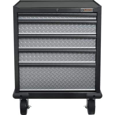 Premier Series Pre-Assembled Steel Freestanding Garage Cabinet in Silver with Casters (28 in. W x 35 in. H x 25 in. D)