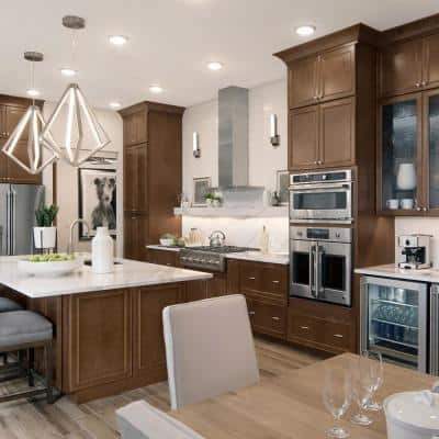 Custom Kitchen Cabinets Shown in Transitional Style