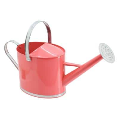 Chic 1.8 Gal. Coral Metal Watering Can