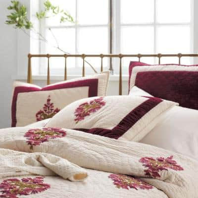 Orleans Geometric Textured Cotton Blend Quilt