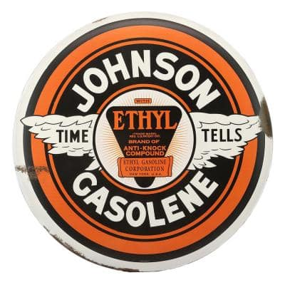Time Tells Rustic Tin Button Decorative Sign