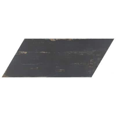 Take Home Tile Sample - Retro Naveta Nero 8 in. x 7-1/8 in. Porcelain Floor and Wall