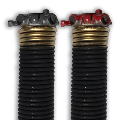 0.250 in. Wire x 2 in. D x 33 in. L Torsion Springs in Gold Left and Right Wound Pair for Sectional Garage Door