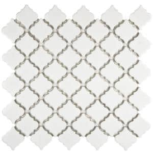 Hudson Tangier Glossy White 12 in. x 12 in. Porcelain Mosaic Tile (10.96 sq. ft. / Case)