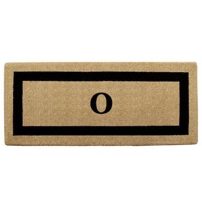 Single Picture Frame Black 24 in. x 57 in. Heavy Duty Coir Monogrammed O Door Mat