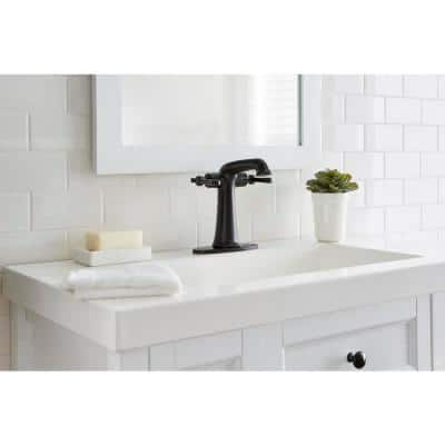 Myer Single-Hole 2-Handle Bathroom Faucet in Matte Black