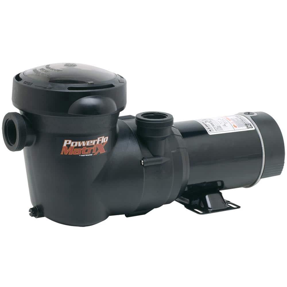 Hayward 1 Hp Powerflo Matrix Aboveground Single Speed Pool Pump W3sp1593 The Home Depot