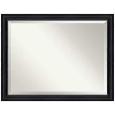 Astor 44.88 in. x 34.88 in. Modern Rectangle Framed Black Bathroom Vanity Mirror