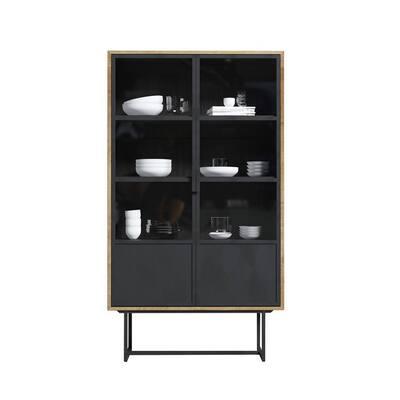 Parisian Factory 71 in. x 41 in. Display Cabinet Metal Doors