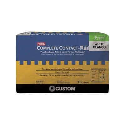 Complete Contact 50 lb. White Large Format Rapid Setting Tile Mortar