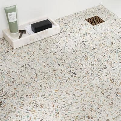 Countryside Micropebbles 11.81 in. x 11.81 in. Dark Blend Floor and Wall Mosaic (0.97 sq. ft. / sheet)
