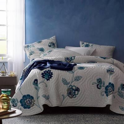 Julienne Multicolored Floral Cotton Quilt