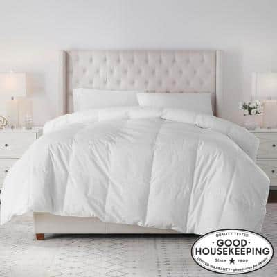 Lightweight Down White Cotton Full/Queen Comforter