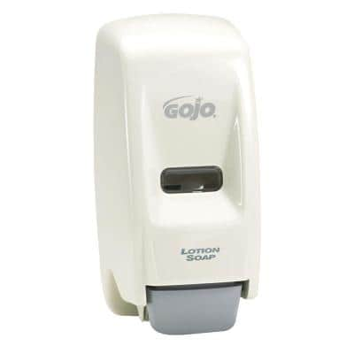 800 ml White Bag-In-Box Liquid Soap Dispenser