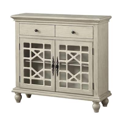 Millstone Texture Ivory 2-Drawer 2-Door Cupboard