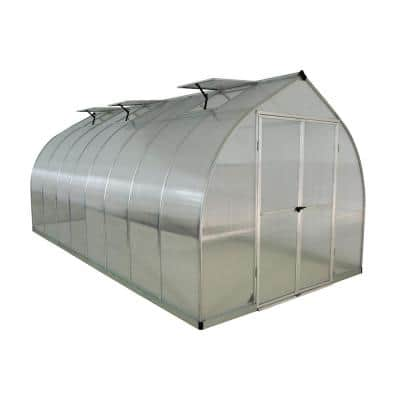 Bella 8 ft. x 16 ft. Silver Polycarbonate Greenhouse