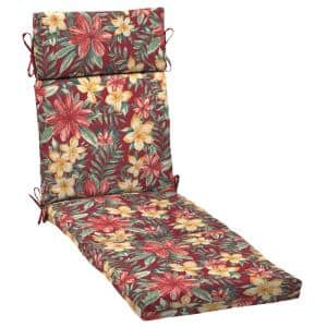 Arden Selections 21 in. x 72 in. Ruby Clarissa Tropical Outdoor Chaise Lounge Cushion