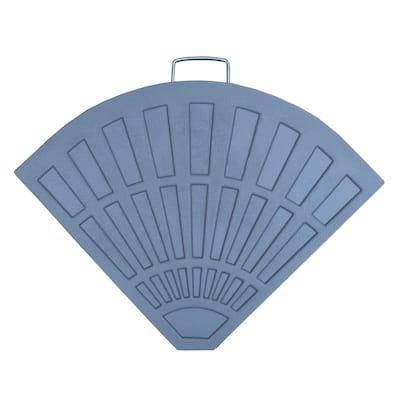 Cast Polyresin Patio Umbrella Base Grey