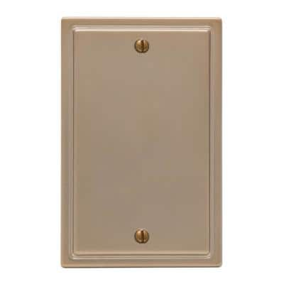 Moderne 1 Gang Blank Steel Wall Plate - Brushed Bronze
