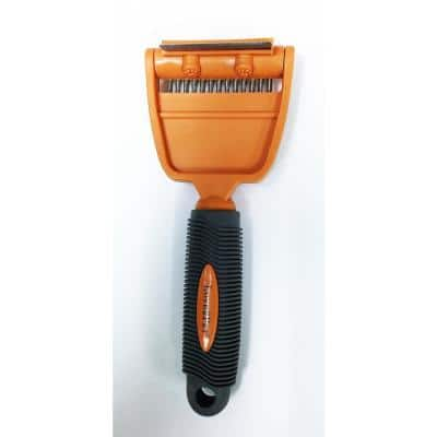 Large 2-in-1 Multi-Purpose Grooming Tool with 2 in. De-Shedder Blade