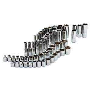 3/8 in. Drive SAE and Metric Socket and Bit Socket Set (91-Piece)
