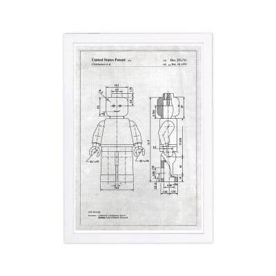 Lego Toy Figure, 1979 - Gray' Framed Fantasy Art Print 19 in. x 13 in.